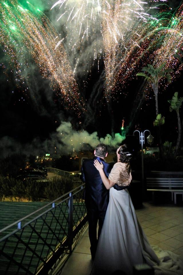 spettacolo piromusicale per matrimonio di Enzo